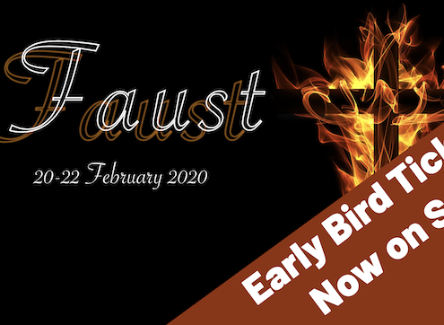 Faust - early bird tickets now on sale